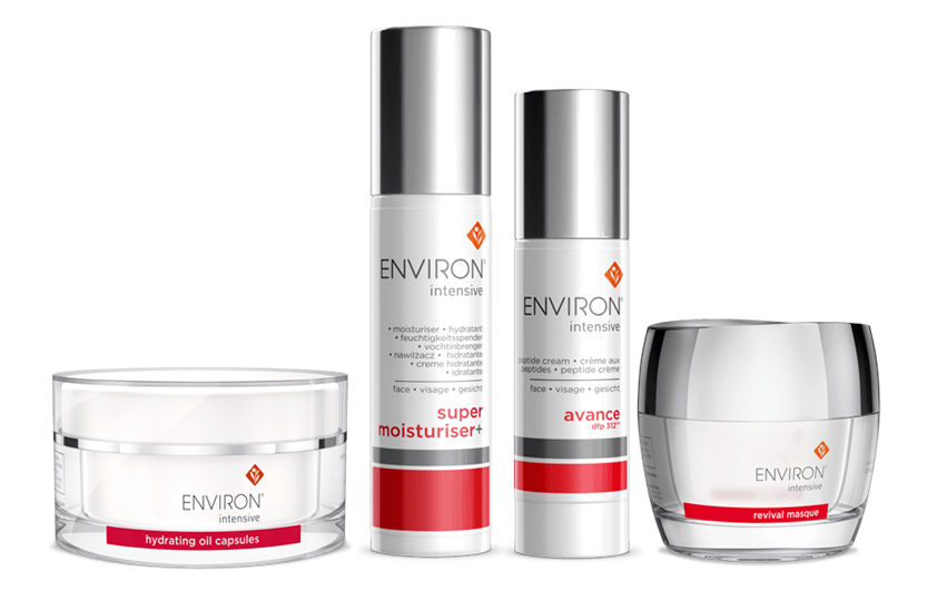 Health and beauty spa products from Aromatherapy Associates, Environ